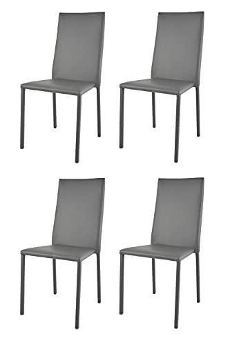 t m c s Tommychairs - Set 4 sedie impilabili Modello Julia per Cucina Bar e Sala da Pranzo, Robusta...