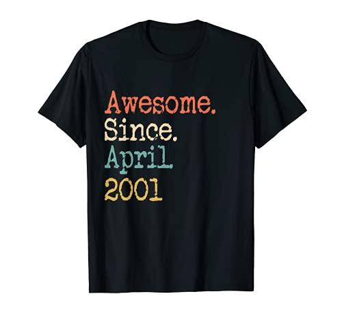 Awesome From April 2001 - Regalo de 20 cumpleaños divertido Camiseta