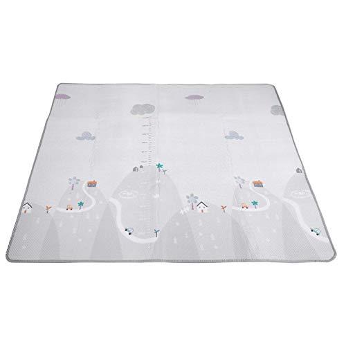 Baby speelmat Baby speelmat Familiefeest Vakantie Kinderen Binnen Buiten(Qunshan + checkered double-sided crawling mat)
