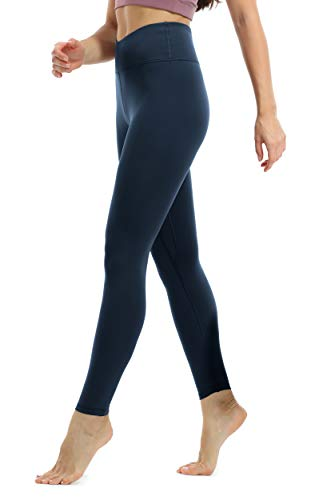 JOYSPELS Sporthose Damen, Sportleggins Damen Lang Yogahose Sport Leggings, Blau, 38(M)