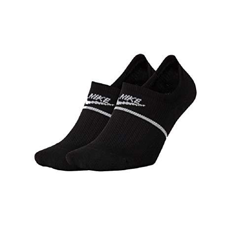 Nike Essential Footie - Calcetines para mujer (2 unidades) blanco/negro S