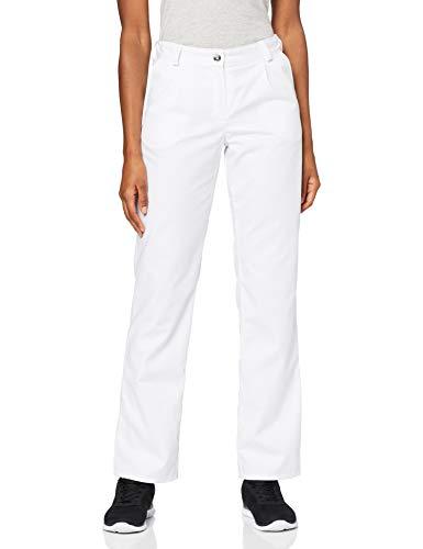 BP 1647-400-21-44n Hosen für Frauen, mit Bundfalten und Taschen, 215,00 g/m² Stoffmischung, weiß ,44n