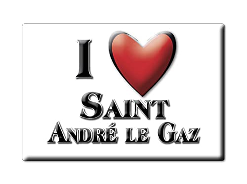 Enjoymagnets Saint ANDRÉ LE GAZ (38) Souvenir IMANES DE Nevera Francia Lorraine IMAN Fridge Magnet Corazon I Love