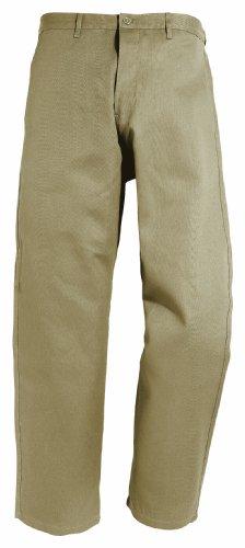 Arbeitshose mit Gummizug 191-0-600-56 Hose, 100 % Baumwolle, Sanfor, Größe 56, Farbe: beige