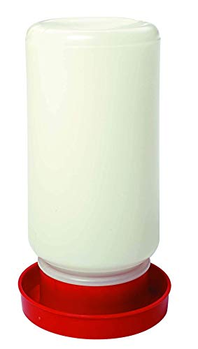 246 Miller Quail Base Bundled with Little Giant Screw-On Poultry Jar Heavy Duty Translucent Plastic Container