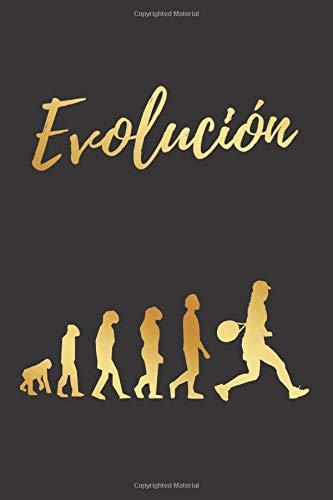 EVOLUCIÓN: CUADERNO LINEADO | DIARIO, CUADERNO DE NOTAS, APUNTES O AGENDA | REGALO CREATIVO Y ORIGINAL PARA LOS AMANTES DEL TENIS FEMENINO