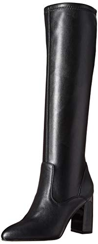 Franco Sarto Women's Katherine Knee High Boot, Black Stretch Leather, 11 M US