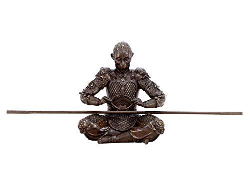 Kunst & Ambiente - Sun Wukong Figur - König der Affen - Krieger Skulptur aus Bronze - Die Reise nach Westen - Höhe: 35 cm - Breite: 65 cm - Son Goku Statue