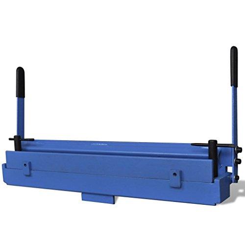 yorten Máquina Plegadora Manual de Metal Duradera Herramienta Dobladora de Chapa 630 mm Azul