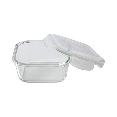 Borosil Prime Glass Lunch Box Set of 2, 320 ml, Horizontal, Microwave Safe Office Tiffin