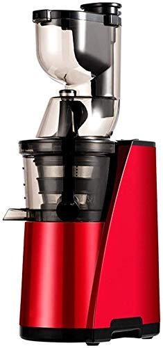 AFDK Licuadora Smoothie, 80Mm de ancho de separación de calibre Licuadora multifuncional de un solo servicio con picadora de alimentos Fabricación de helados 150W Bajo nivel de ruido Sin filtro,rojo