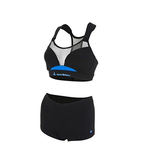 Aqua Sphere Kobi - Bañador para Mujer, Mujer, Color Negro/Azul, tamaño 28