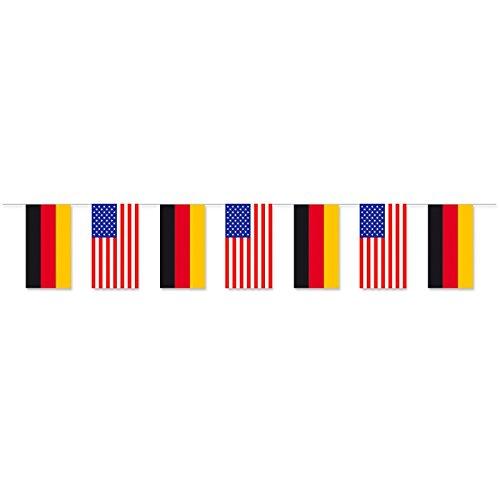 Everflag Papierfahnen-Kette 5m : Deutschland - USA