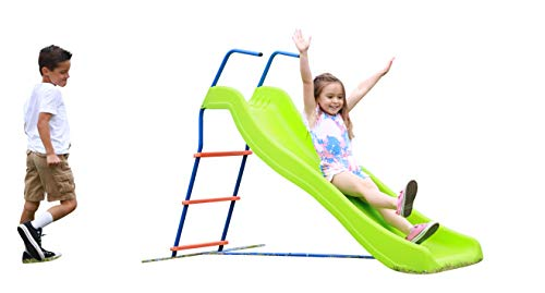 Kids 6ft Outdoor Playground Slide: Freestanding Play Equipment Playset for Children. Perfect Indoor Backyard Entertainment. Maximum Child Safety Standards. Easy Assembly.