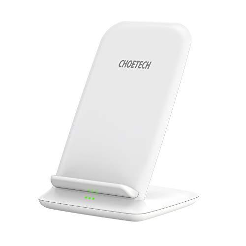 Galaxy S10//S10 Plus//S9//S9 Plus//S8//S8 Plus//Note 8//Note 9//S7 Edge//S6//S6 Edge//S6 Edge + CHOETECH Caricatore Wireless Qi Certificato Base Ricarica Standard per iPhone XS//XS Max//XR//8//8 Plus//X Dorato