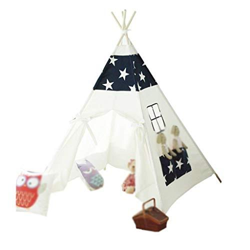 XZGang Kinderkleding Store Tent, Family Party Tent Game Room Tent Wit met Zwart Patroon / 140 * 140 * 150 Cm Ruimte voor kinderen (Size : 140 * 140 * 150cm)