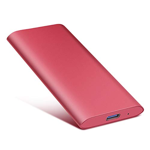 Disco Duro Externo 1tb USB 3.1 para Mac, PC, PS4,MacBook, Chromebook, Xbox (1tb, Rojo)