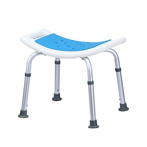 SEESEE.U Badezimmerhocker, 7 Gang/Höhenverstellung 16 & ndash; 22in / rutschfestes Aluminium- und PET-Blasformen, für Behinderten-Senioren (kann 136kg tragen)