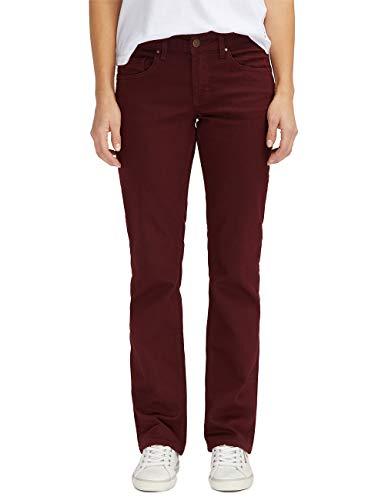 MUSTANG Damen Jeans Julia - Comfort Fit - Rot - Tawny Port Grösse W28-W34 Stretchjeans 78% Baumwolle, Größe:W 30 L 32, Farbvariante:Tawny Port (7199)