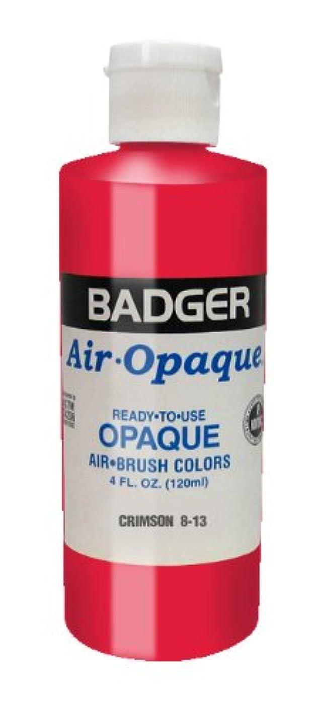 Badger Air-Brush Company Air-Opaque Airbrush Ready Water Based Acrylic Paint, Crimson, 4-Ounce