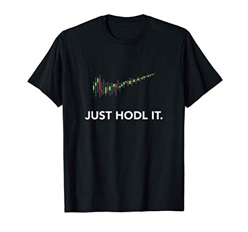 Just HODL it. Candlestick Moon Chart Crypto Currency T-Shirt
