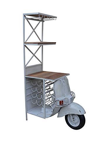 Kobolo Weinregal Anrichte Barregal Barwagen Scooter Bar - Vintage - 50x102x180 cm