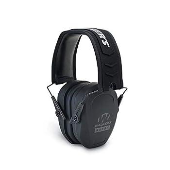 Walker s Razor Slim Passive Earmuff - Ultra Low-Profile Earcups - Black