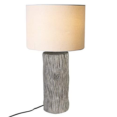 Casablanca lamp boomstam grijs/crème, poly (BxHxD) 50 x cm