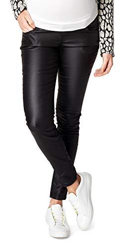 Supermom Festa della pelle Effetto Coating Jeans Skinny pantaloni da donna (gamba dritta) umstand Hose nero (nero) W44