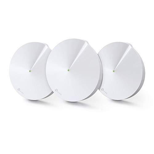 TP-Link Deco M9 Plus(3-Pack) Système WiFi Mesh AC 2200Mbps pour toute la maison - Couverture WiFi de 600m2 - Installation Facile - Contrôle parental - Compatible avec toutes les Box Fibre