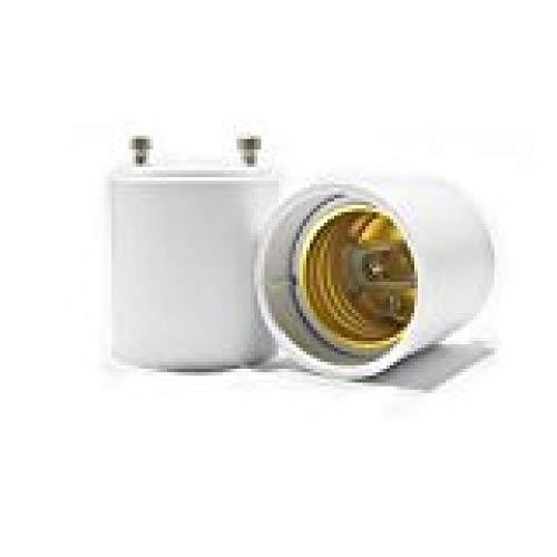LKJYBG Adaptador genérico GU24 a E26/E27, máximo 1000 W, resistente al calor hasta 200 °C. Convierte el portalámparas (GU24) en casquillo estándar atornillable.