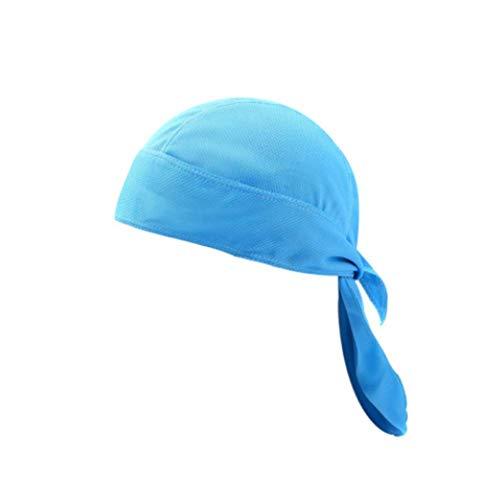 Longzhuo Bandana Cap ademende hoofdband Biker Bandanas hoofddoek hoed van de Sportbandana Kapenmannenvrouwen paardrijsportkap buiten sneldrogende piratenhoed motorfiets, groen