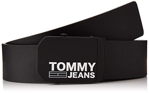 Tommy Hilfiger Tjm Plaque Leather Belt 4.0 Cintura, (Black Bds), 9 (Taglia Produttore: 105.0) Uomo