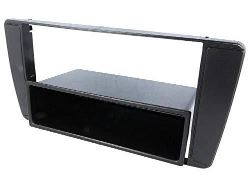 ADNAuto 3663693111834 Facade Autoradio 1Din avec Vide-Poche Octavia 2-Noir
