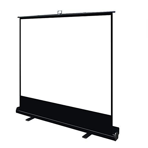 GJX-LB Pantalla de proyector, 50 pulgadas Micro proyector plegable Pantalla 16:9 HD 4K para exteriores (1,5 ganancia, ángulo de visión de 160°) 3D sin arrugas, negro para cine en casa