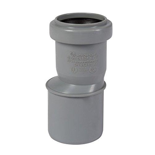 HT-Übergangsrohr DN 50/40 mit einseitiger Muffe