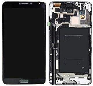 قطعة غيار شاشة LCD من ريفيكسيت قطعة سوداء فضية متوافقة مع سامسونج نوت 3 N9005