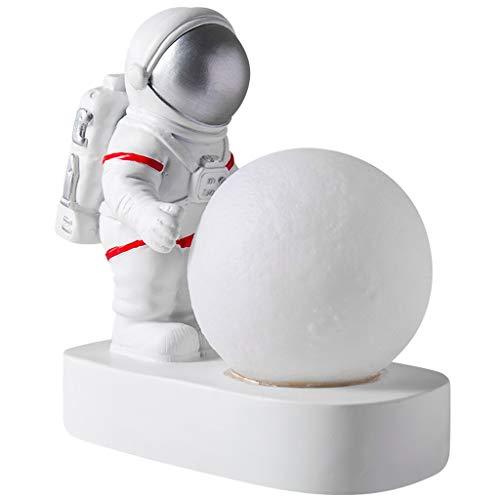 Adornos de escritorio Los astronautas de la luna de la lámpara decorar astronautas lunar luz de la noche como for niños Mujeres muchacho de las muchachas del regalo de cumpleaños Escultura de la estat