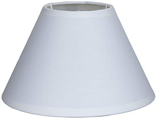Better & Best 17,5 Lampenschirm aus Baumwolle, rund, chinesische Form, 17,5 cm, Weiß