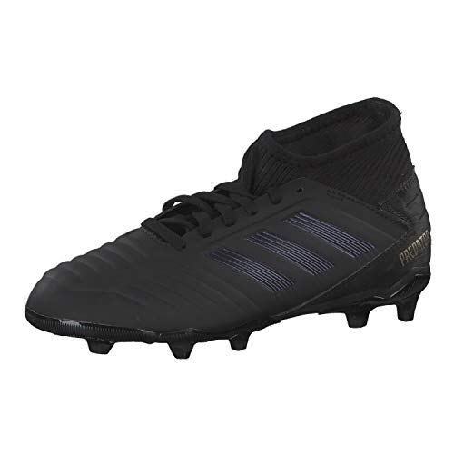 adidas Predator 19.3 Fg J, Scarpe da Calcio Bambino, Nero (Negbás/Negbás/Dormet 000), 35 EU