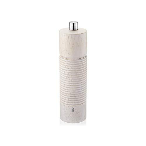 GEFU 34646 Salz- oder Pfeffermühle, Edelstahl, rostfrei, weiß