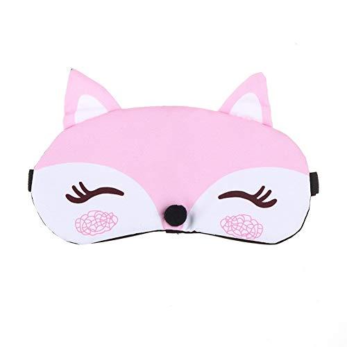 Slaapmasker 1 ST Koreaanse Mode Leuke Cartoon Fox 3D Slaap Masker Natuurlijke Relax Slapende Oog Masker Zachte Gecapitonneerde Slaap Reizen Schaduw Cover Blinddoek