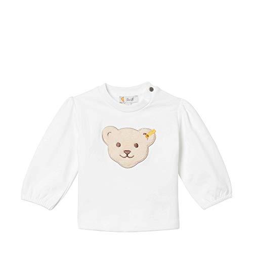 Steiff Baby-Mädchen Sweatshirt, Weiß (BRIGHT WHITE 1000), 62 (Herstellergröße:62)
