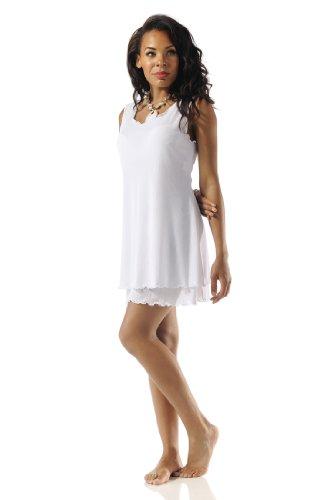Rapz Vestido de mujer en capas, Blanco, Medium