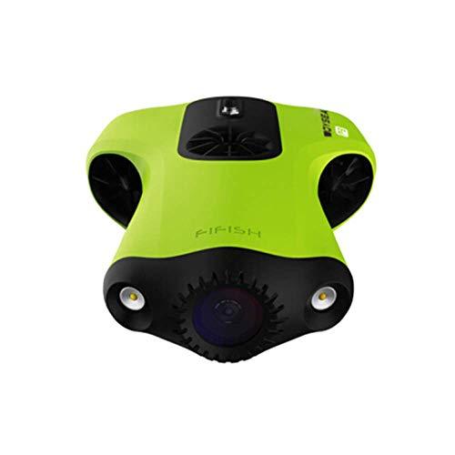 ZHCJH Drone subacqueo V6 con 6 direzioni di Movimento grandangolare 162?Fotocamera 4K UHD 12 Megapixel profondità 100 Metri Memoria 64 GB Cavo 50 m