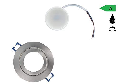 LED inbouwspots pakket voor een gunstige prijs lichten dimbaar warm wit IP44 plafond spots LED 5W-warm zilver in zilver A+ zilver