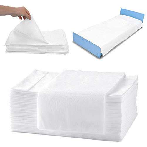 Sábanas de masaje, sábanas desechables de tela no tejida, paquete de 20 sábanas impermeables para spa y mesa de masaje desechable..