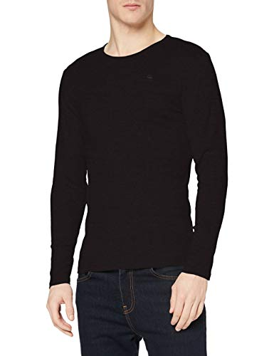 G-STAR RAW Herren Langarmshirt Base R T L/S 1-Pack Langarmshirt, Schwarz (Black 990), Medium