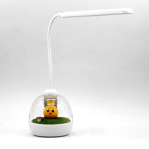 YLSMN Atmósfera inteligente lámpara de escritorio de carga usb dormitorio junto a la cama carga inalámbrica de mano lámpara de mesa de protección ocular LED rápida