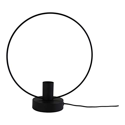 Housevitamin lamp cirkel 34x30 - tafellamp/bureaulamp - zwart